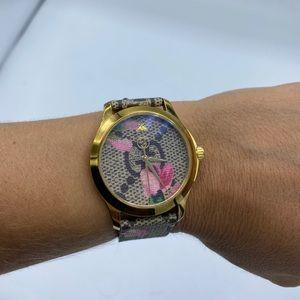 Gucci watch - GG Supreme Canvas Strap